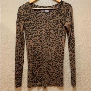 Michael Stars Leopard Long Sleeve Tee